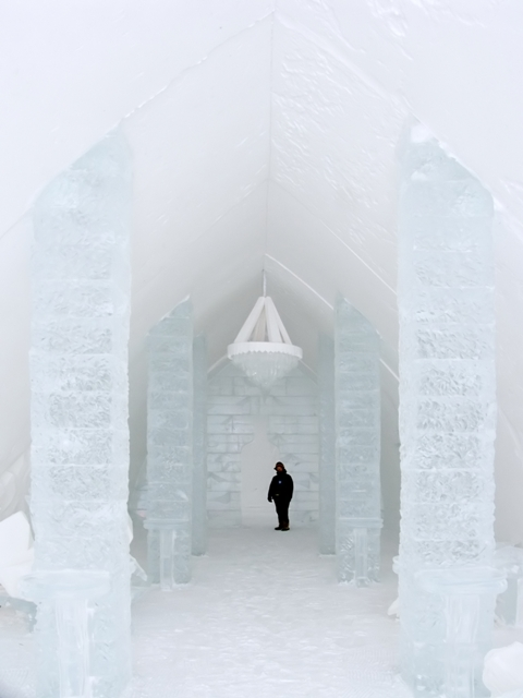 Coconut Club Vacations Cooling Off in an Ice Hotel